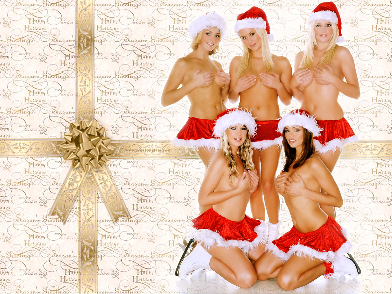 sexy christmas wallpapers. click for wallpaper sized,
