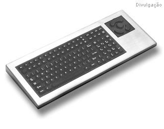 Este teclado da Stealth Computer é projetado para ambientes hostis. Ele é feito em aço não corrosivel e custa 2.200 dólares.